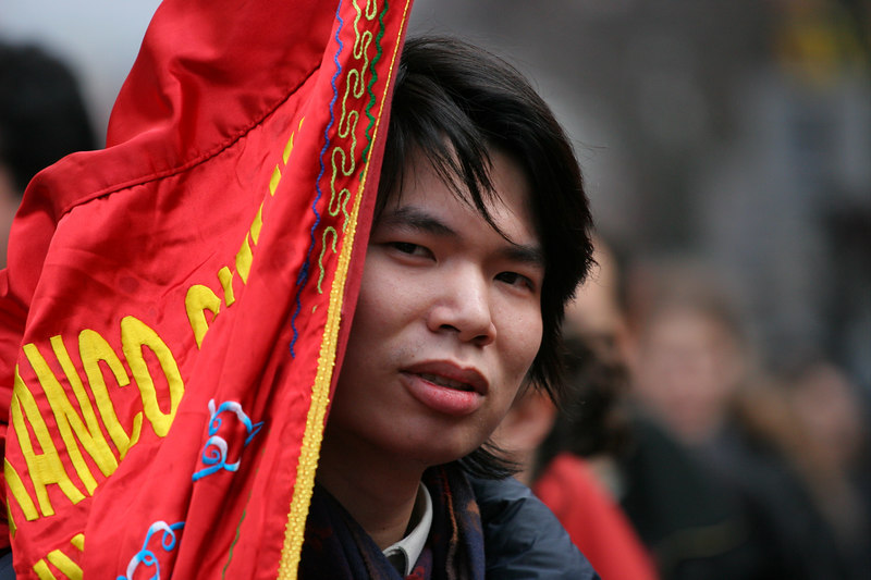 Chinese New Year in Paris, France.