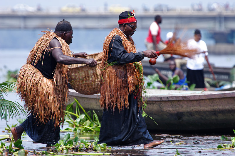 2006 Ngondo festival on the Wouri river banks, Douala, Cameroon.