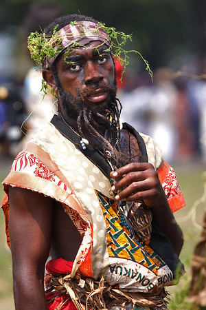 2006 Ngondo festival on the Wouri river banks, Douala, Cameroon.