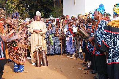 """Mbombo Djoya"", Sultan of the Bamoun people since 1992 during the Nguon Festival, Foumban, Cameroon."