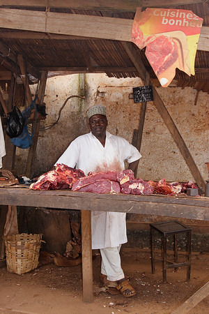 A butcher from Foumban, West, Cameroon.