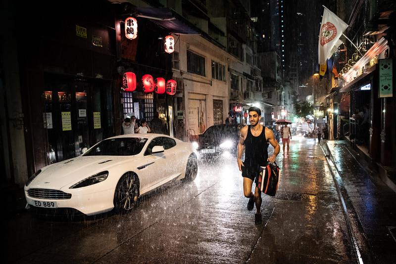 Run in the rain, Hong Kong