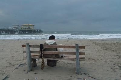 Lady on a bench