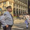 NYC police on the job