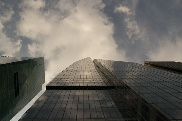 Building, sky, reflection