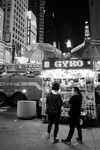 Late Night Gyro, Times Square, NYC  (268497-BW)