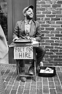 Poet for Hire, Portland, Maine  (31172-BW)