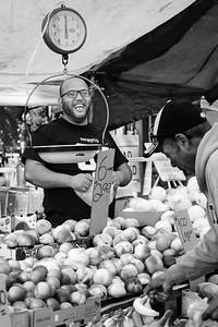 Fruit Vendor, Haymarket, Boston, Massachusetts (91713-BW)