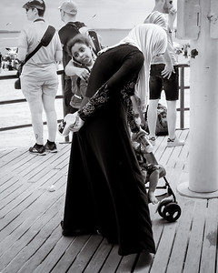 A Day at the Beach, Coney Island, New York  (234960-BW)