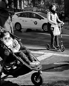 Chinatown at Midday, NYC  (85636-BW)