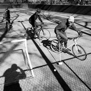 Bike Polo No. 2, New York City  (86082-BW)