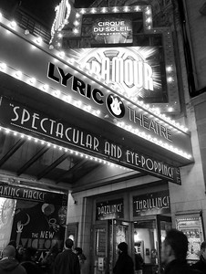 Spectacular, Eye-popping, Dazzling, Thrilling.  Broadway, NYC  (3894 iP-BW)