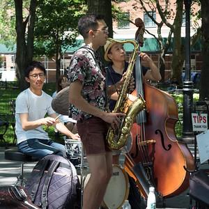 Jazz Trio, Washington Square Park, NYC  (71331)