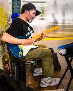 Subway Station Guitarist, NYC  (31959)