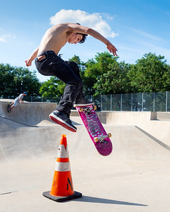 Skater In Flight, NYC  (20114)