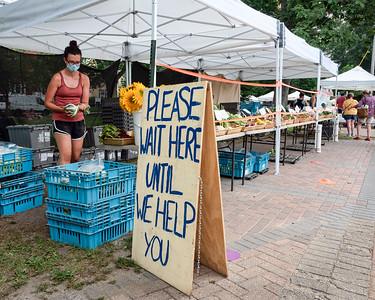 COVID Times at the Farmer's Market, Brunswick, Maine  (80006)