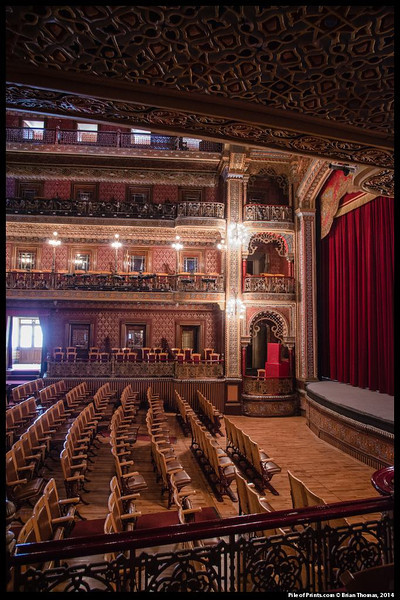 The interior of the theater is, arguably, the most beautiful in the Americas.