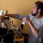 Martin, at Twin Pines Coffee