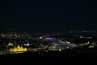 Budapest by Night — Budapest éjszakai látképe