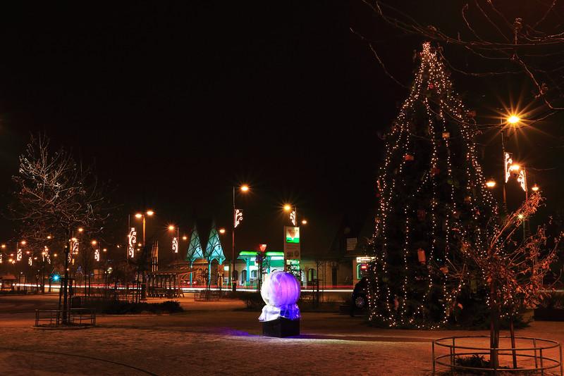 Karácsonyi fények Veresegyházon