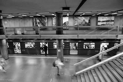 Metro station at Nagyvárad tér