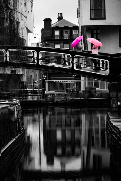 What are your thoughts on colour splash? I've always used the technique very liberally in my work for fear of it looking cheap, but for this shot from my #LDN project which sees two bright umbrellas on an otherwise bleak and wet day at Camden Lock I feel it has strengthened the image. What do you think?<br /> .<br /> .<br /> .