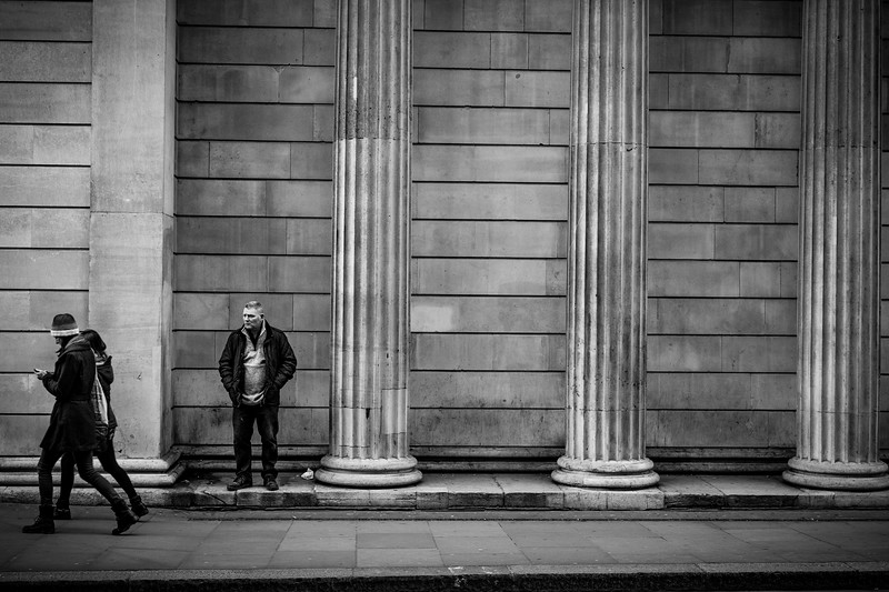 A sneak preview into my new LDN project where I am trying to see the city through my lens as I would on my travels. It's a real challenge trying to photograph scenes I see virtually everyday, but as one of the greatest cities in the world is on my doorstep I feel I should document it in my own style. This shot depicts a quiet Royal Exchange outside the Bank of England.