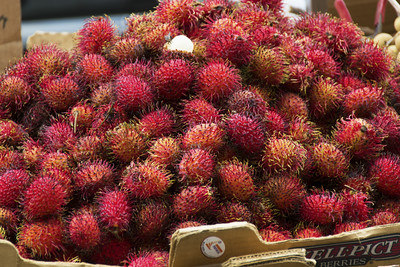 Lychees for sale