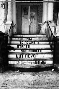 Bowery stairway