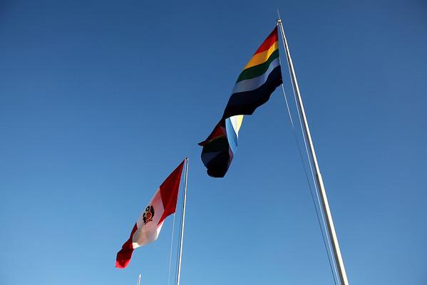 Cusco and Pervu Flags