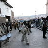 The band - A parade in the Plaza de Armas - Cusco, Peru