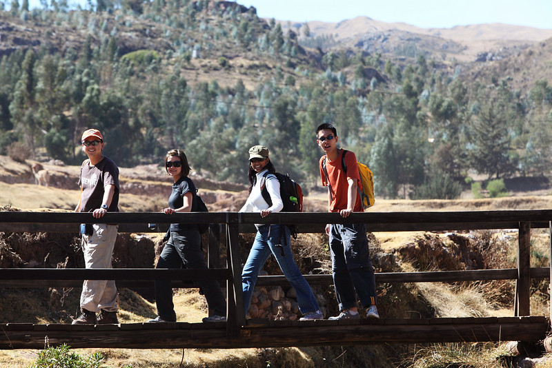 Walking down from Sacsayhuaman