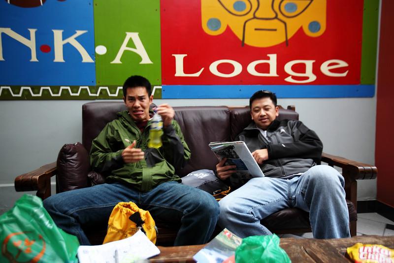 Chris like Inca Cola - Lima, Peru