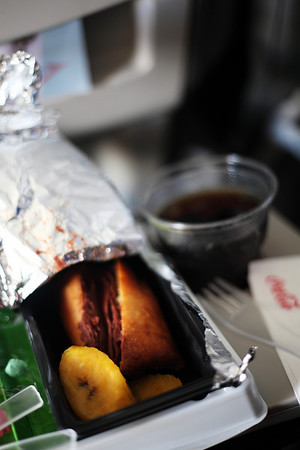 Taca Airline Food - Tamale with BEANS