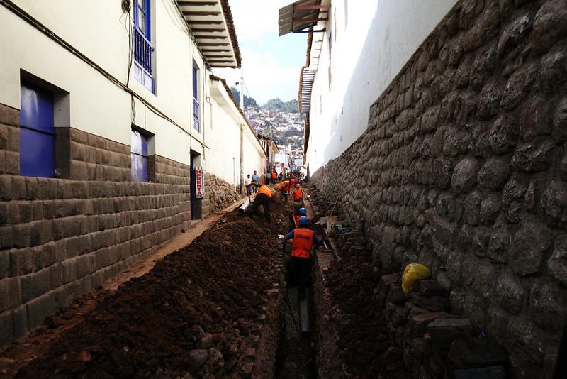 Men at work - Cusco, Peru