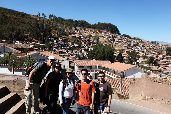 Walking down from Sacsayhuaman