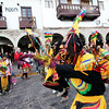 A parade in the Plaza de Armas - Cusco, Peru