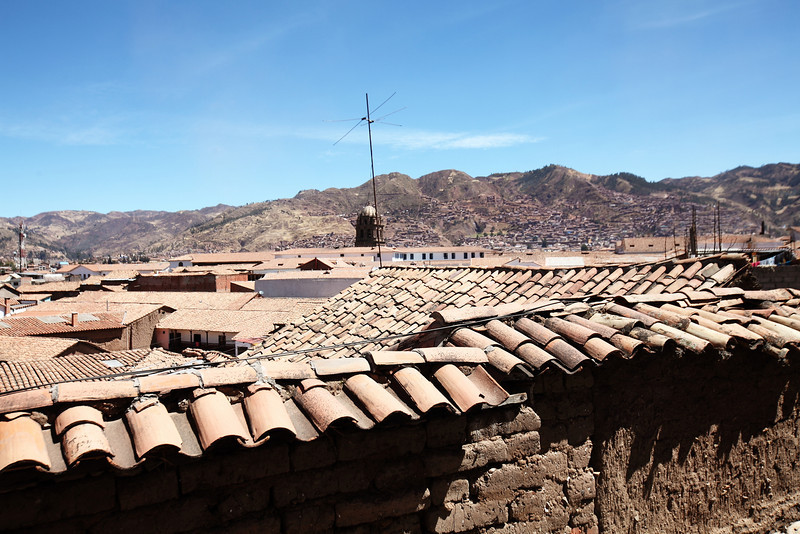Cusco Roof View from Hostel Inkarri
