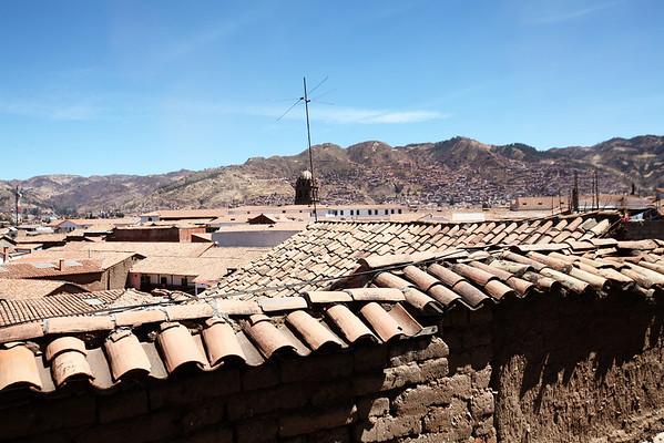 Cusco Roof View from Hostel Inkarri