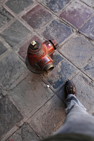 The world's smallest fire hydrant.