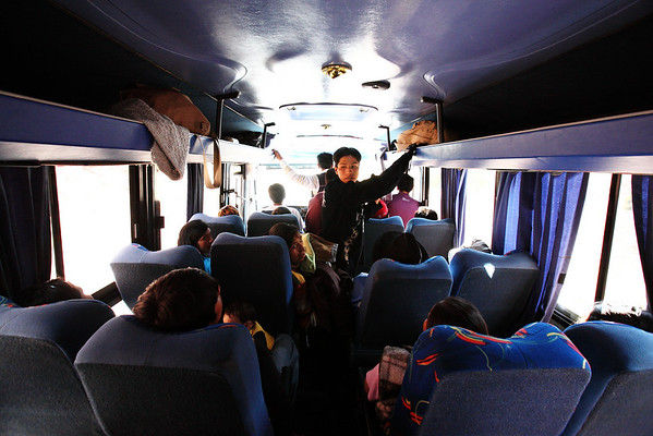 Bus ride back to Cusco