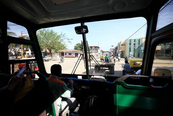 Ahhh..tractors..gotta love them.  Took this bus back to the airport