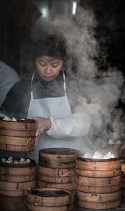 Shanghai - reggeli készül a kifőzdében