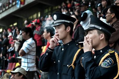 Shanghai, Forma-1 - rendőrök a VIP-lelátón