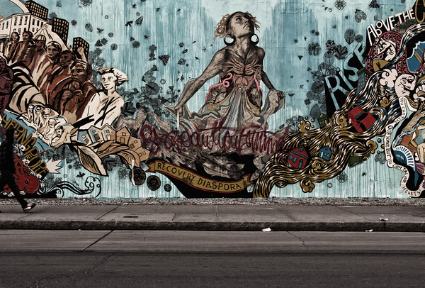 Bowery Mural Wall by Swoon