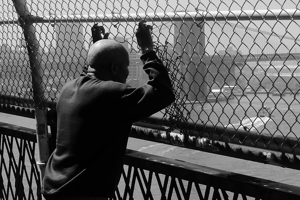 Manhattan Bridge. After I made sure he was OK, we both moved on.