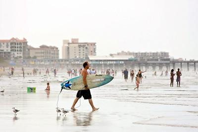 Surfer at Cocoa Beach
