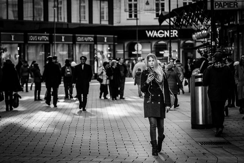 Street in Wien, Österreich am  12. 12. 2014. Foto: Gerald Fischer