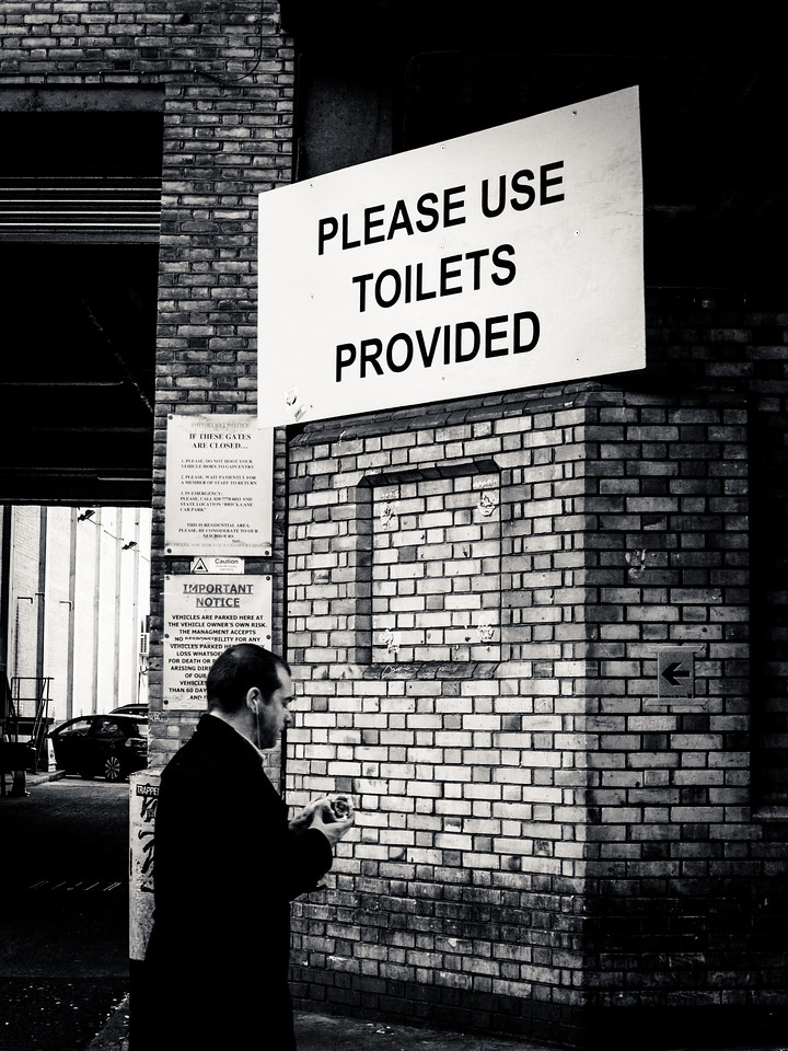 Please Use Toilets Provided