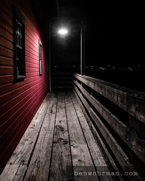 Street light on the dock